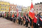 Manifestacja patriotyczna na Rynku Wielkim z okazji  95. rocznicy odzyskania przez Polskę niepodległości