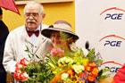 Uroczystość w Alei Sław - odsłonięcie tablicy pamiątkowej przez prof. Mariana Koniecznego