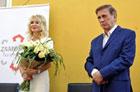 Uroczystość  w Alei Sław odsłonięcia tablic pamiątkowych z udziałem Beaty Ścibakówny i Jana Englerta