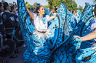 16.Eurofolk - niezwykle barwny przemarsz zespołów Eurofloku ulicami Zamościa