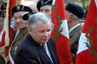 Wizyta premiera w Zamościu - pomnik Żołnierzy AK, konferencja prasowa