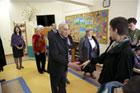 Uroczystość nadania Centrum Aktywizacji Społecznej Osób Niepełnosprawnych w Białobrzegach imienia Jana i Zofii Kułakowskich z udziałem byłego premiera  Tadeusza Mazowieckiego i dr Zofii Kułakowskiej