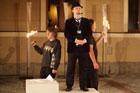 Inscenizacja baśni w wykonaniu zespołu teatralnego Glosa Zamojskiego Domu Kultury oraz Grupy Utopia