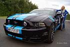 Kolumna Fordow Mustangów przejechała ulicami Zamościa