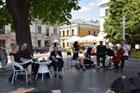 Krakowski Salon Poezji w Zamościu,    odsłonięcie rzeźby Leśmianowego Srebronia oraz wieczór autorów Zamościa - wydarzenia w ramach Ulicy Poetyckiej - Literackiego Zamościa