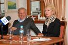 Konferencja prasowa 36 Zamojskiego Lata Teatralnego z udzia�em patron�w: Beaty �cibak�wny i Jana Englerta